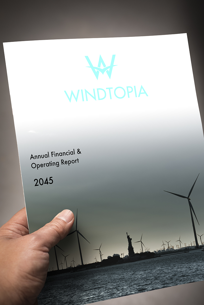 At Windtopia's Shareholders Meetings, pick up an Annual Report to learn what and how we have been doing in the past year.   You may read and buy of copy of the Annual Report here